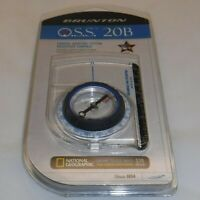 Brunton O.S.S. 20B ~ Orbital Sighting System Baseplate Compass (Made in the USA)