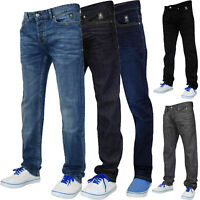 Men Slim Fit Jeans Staright Leg Coated Stretchable Denim Pants Casual Trousers