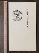 1970's Korea UN Armed Truce booklet Korean Armistice Agreement military