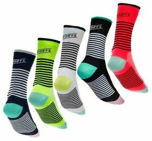 Pro XC/MTB/Runnning/Cycling Calf Socks Stripe Compression Red/Yellow/Black/White