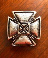 Iron Celtic Crusader Knights Cross Made In Italy Metal Unisex Men's Belt Buckle