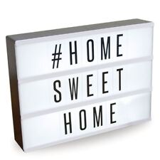 LIGHT UP LED LETTERS BOX WEDDING CINEMA HOME OFFICE DESK DECOR SIGN PLAQUE