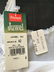 """""""Triumph"""" Juwel Unterkleid Unterrock Gr.42 Negligee glänzend weiß """"NEU"""""""