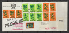 Nations Unies New-York Peru Lima 14 timbres sur lettre tampon à date 1965/B5N-U9
