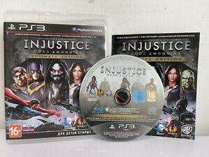 PS3- Injustice Gods Among Us Ultimate Edition -Complete- Makers Of Mortal Kombat
