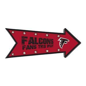 "Atlanta Falcons Arrow Marquee Sign - Light Up - Room Bar Decor NEW 18"""