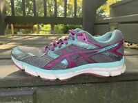 Asics GEL-Excite 3 Trainers Women's Run/walk Sneakers Shoes Size 8 Silver Blue