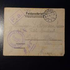 LETTRE COVER PRISONNIER DE GUERRE CAD GIESSEN 1915 -> VICHY ALLIER
