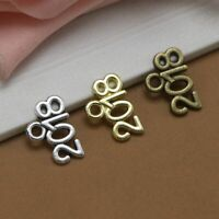 Number 2019 2020 2018 DIY Pendants Gold Color Pendant Jewelry Silver Color