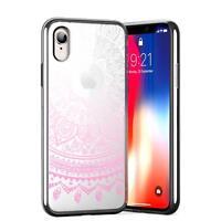 Schutz Hülle für iPhone XR Hülle Silikon Handy Tasche Mandala Case Crystal Cover