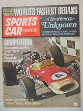 SPORTS CAR GRAPHIC JULY 1968 SPANISH GRAND PRIX NEW YORK AUTO SHOW