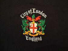 City of London England Coat of Arms Logo Vacation Souvenir Black T Shirt S