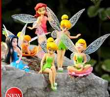 6pcs New Figurine FEE CLOCHETTE TINKER BELL Cake Toppers Dolls Hot A1