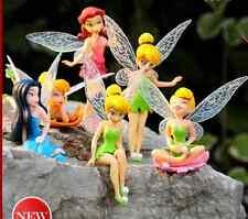 6pcs Figurine FEE CLOCHETTE TINKER BELL Cake Toppers Dolls doll doll lovely A1