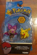 Pokemon TOMY Figure Noibat VS Pikachu 2 Pack Sealed New
