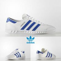 Adidas Original Hamburg Running Sneakers White Blue Gold BY9758 SZ 4-11 Limited