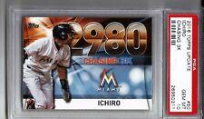2016 Topps Update Chasing 3K #50 Ichiro Suzuki Marlins graded PSA 10 Gem Mint