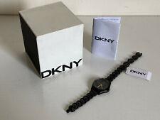NEW! DKNY DONNA KARAN PARSONS BLACK DIAL GOLD-TONE HANDS WATCH NY2426 $155 SALE