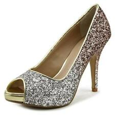 Zapatos de tacón de mujer de color principal plata sintético Talla 36.5