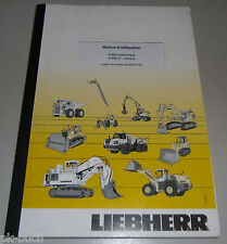 Manual D' Use Liebherr a 900 C-Litronic Skin Hydraulique Stand 2011