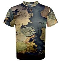 Hot New game of thrones map Men's Sport Mesh Tee T-Shirt S - 3XL free shipping
