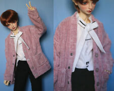 "1/4 BJD MSD Cardigan Sweater (Pink) - 17"" BJD Doll Clothes Outfit"