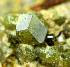 382 CT Full Terminatd Transparnt Top Green Garnet Both Side Crystals Cluster@AFG