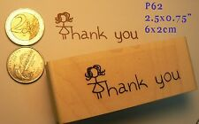 P62 Thank you rubber stamp