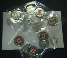 2015 Canada Canadian Flag 50th Anniversary 10-pack Quarter 25c Uncirculated coin