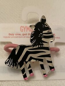 2008 Gymboree Wild One Hair Accessories  Lot  Zebra Pony-o NWT