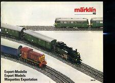 Modellismo Ferrovia catalogo treni Marklin TED FR modelli esportazione 1986 87