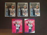 Tom Brady Lot New England Patriots 2020 Score Inserts NFL Football Cards Red
