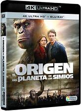 EL ORIGEN DEL PLANETA DE LOS SIMIOS 4K ULTRA HD + BLU RAY NUEVO ( SIN ABRIR )