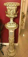 Large Vintage Italian Capodimonte vase with pedestal Italy 52''