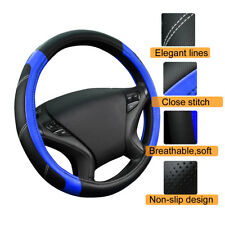 NEW Comfortable non-slip PU leather universal fit car Steering wheel covers