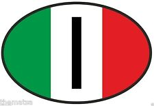 """ITALY ITALIAN FLAG OVAL 4"""" HELMET TOOLBOX BUMPER STICKER DECAL MADE IN USA"""