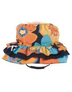 GYMBOREE TROPICAL BLOOM FLORAL PRINT TIERED SUN HAT 0 12 24 2T 3T 4T 5T NWT