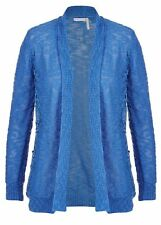 Blue Flower Lace crochet layer long sleeve cardigan jumper jacket XXL 20 22 NEW