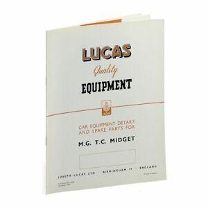 MG TC Lucas Spares Parts List