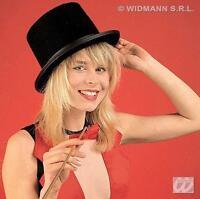 Unisex Black Felt Top Hat Magician Victorian Gentleman Fancy Dress Costume Prop