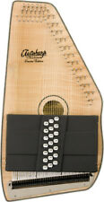 Oscar Schmidt 21 Chord Acoustic/Electric Autoharp, Flame Maple Top, OS11021FNE