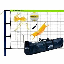Volleyball Set For Backyard Net With Poles Beach Outdoor Portable Green Family