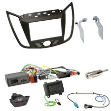 FORD C-MAX (DXA) KUGA 2-din Mascherina Marrone Scuro + KENWOOD VOLANTE Interface