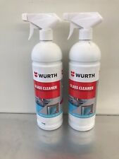 2 X WURTH GLASS CLEANER 1L PROFESSIONAL IDEAL FOR GLASS POLYCARBONATE CHROME ECT