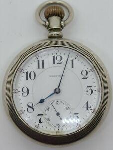 Antique WALTHAM Model 1892 Grade 845 Railroad RR 21J Silver Pocket Watch 18s