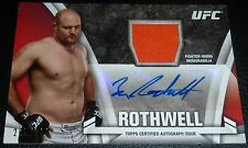 Ben Rothwell Signed 2013 UFC Topps Knockout Fighter Relic Card #KAR-BR Auto /399