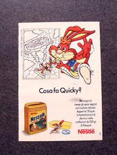 I223-Advertising Pubblicità-1990- NESQUIK , NESTLE' , COSA FA QUICKY ?