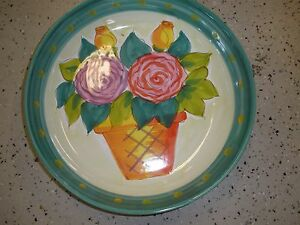 The Cellar Large Floral Flower Pot Bowl Pasta Made in Italy Roses
