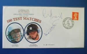 2000 ENGLAND v WEST INDIES COVER SIGNED BY MIKE ATHERTON & ALEC STEWART