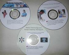 CNA 3 DVD Nursing Asst. Training Wound Care Terms Anatomy - Video Skills - Exams